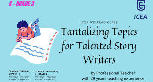 Writing Class: Tantalizing Topics for Talented Story Writers