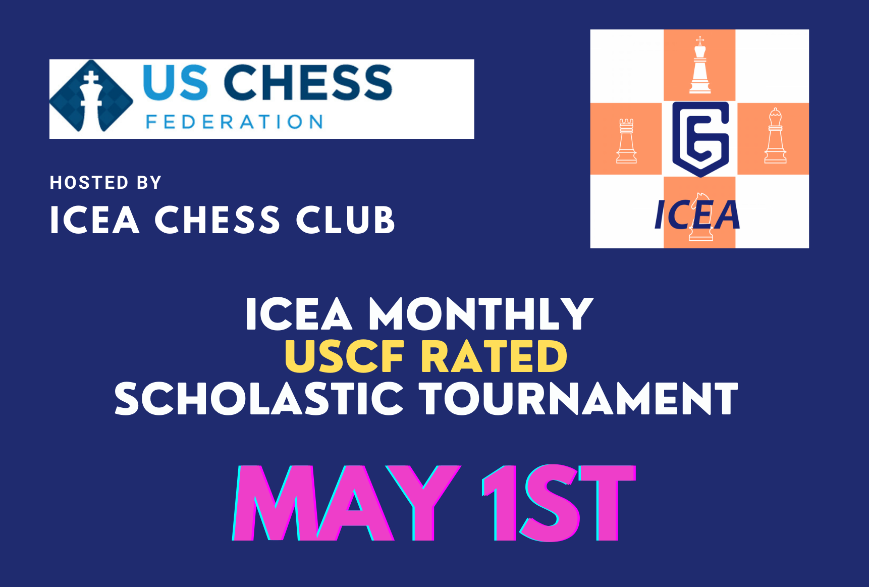 ICEA Monthly Scholastic Online Tournament - May 1st