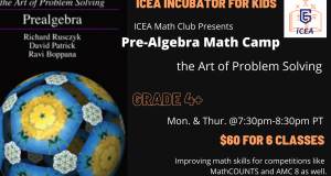 Pre-Algebra Math Camp