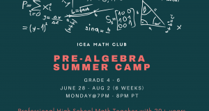 Pre-Algebra Summer Camp