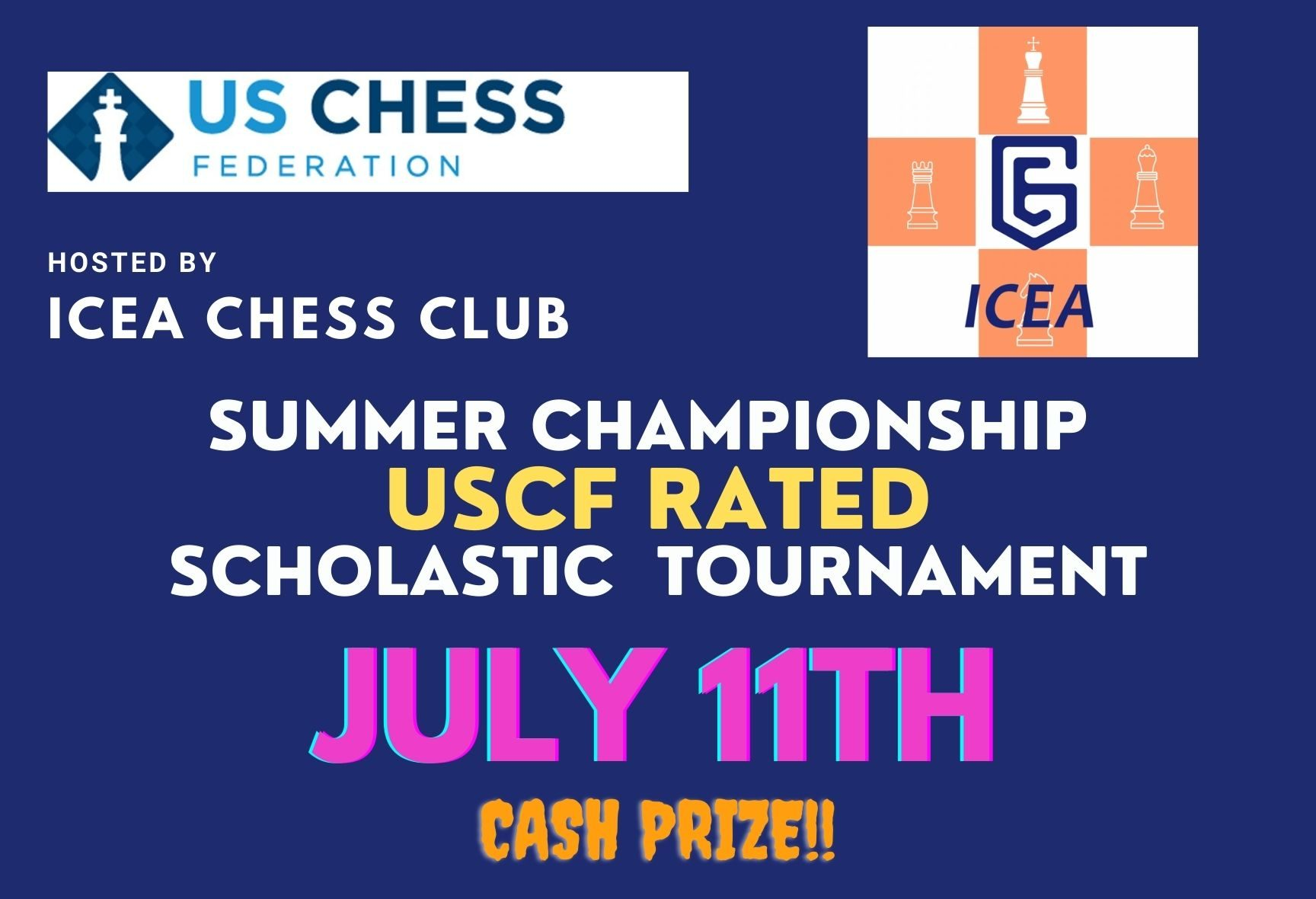 ICEA SUMMER SCHOLASTIC CHAMPIONSHIP USCF-RATED K-12