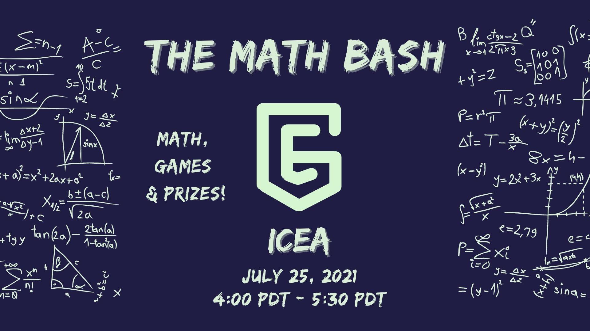 [Free] ICEA Math Club Summer Event: The Math Bash