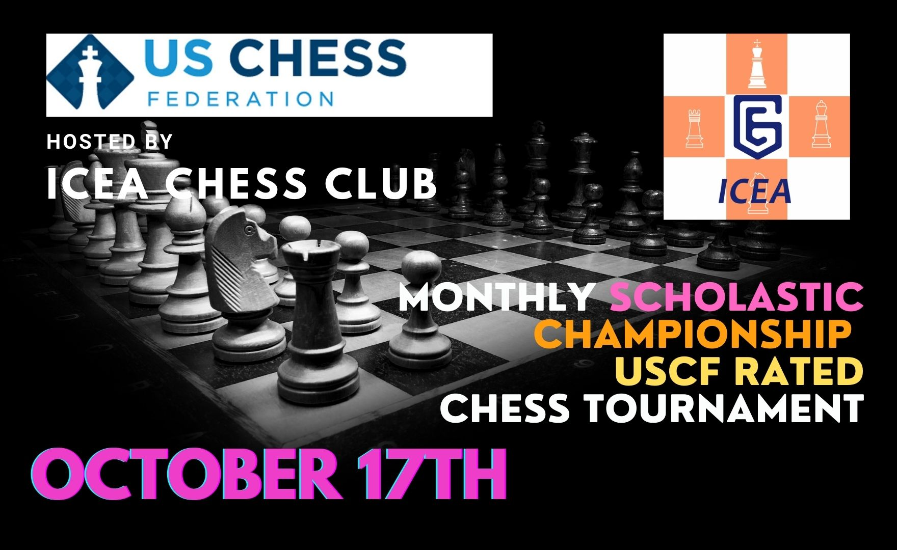 ICEA October Scholastic Championship Chess Tournament